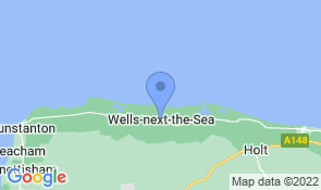 Map of Beach Walk in Wells-next-the-Sea