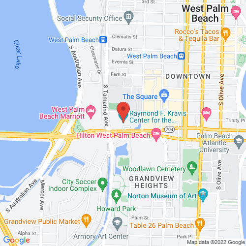 Google Map for Kravis Center
