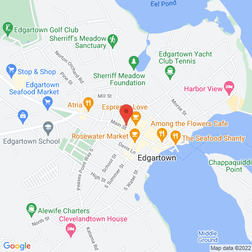Google Map for Old Whaling Church, Edgartown Liturgical Arts Center