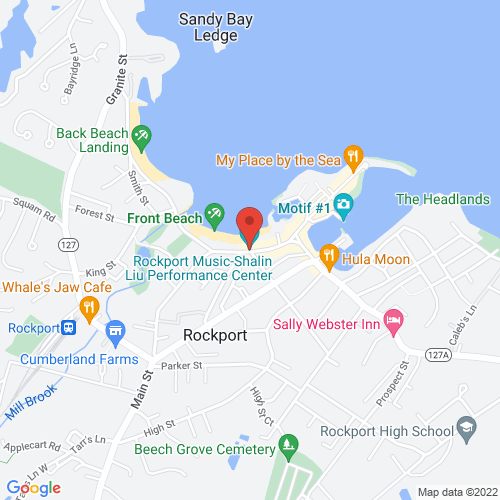 Google Map for Rockport Music-Shalin Liu Performance Center