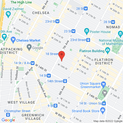Google Map for Rubin Museum of Art