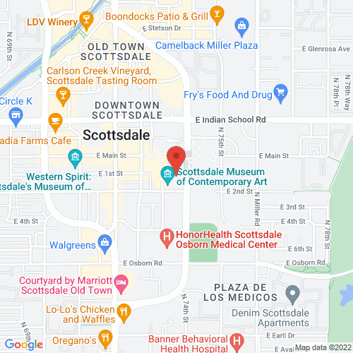 Google Map for Scottsdale Center for the Performing Arts