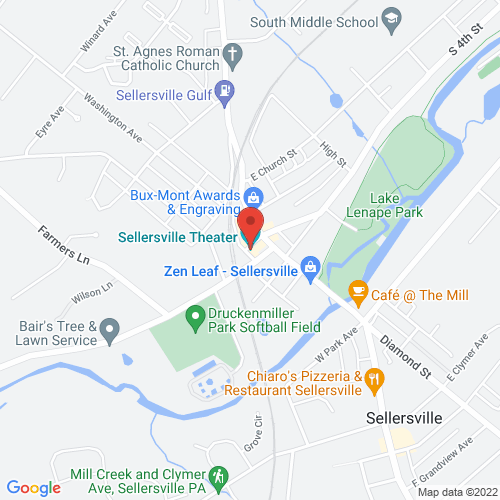 Google Map for Sellersville Theater