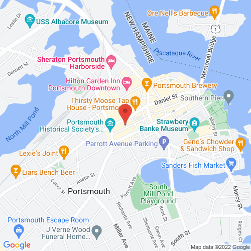 Google Map for The Music Hall, Portsmouth, NH