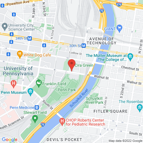 Google Map for World Cafe Live Philadelphia