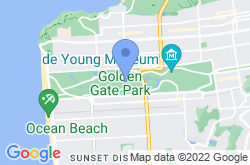 Golden Gate Park, location map