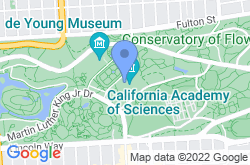 California Academy of Sciences, location map