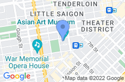 Asian Art Museum of San Francisco, location map