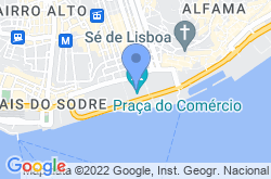 Commerce Square in Lisbon, location map
