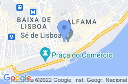 Lisbon Cathedral, location map