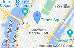 Times Square, location map
