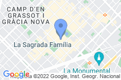 The Sagrada Familia, location map