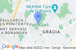 Park Güell, location map