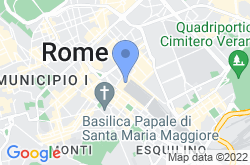 Rome Termini Railway Station, location map