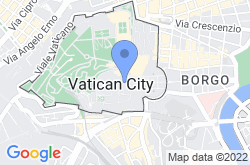 St. Peter's Basilica, location map