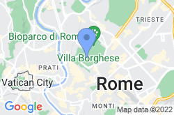 Villa Borghese, location map