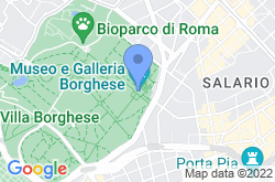 Galleria Borghese, location map