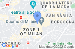 Milan Cathedral, location map