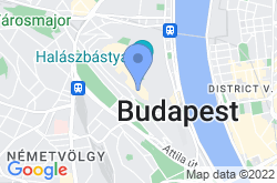 Labyrinth of Buda Castle, location map