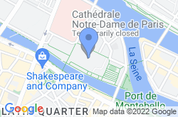 Notre Dame Cathedral, location map