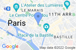 The Marais and Place des Vosges, location map