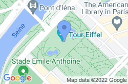 Eiffel Tower, location map