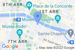 Musée d'Orsay, location map