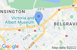 Victoria and Albert Museum, location map