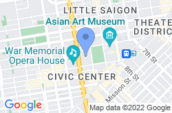 San Francisco City Hall, mapa de localización