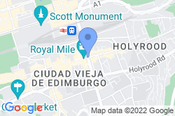Royal Mile, mapa de localización