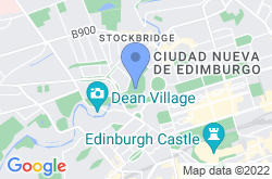 Water of Leith, mapa de localización
