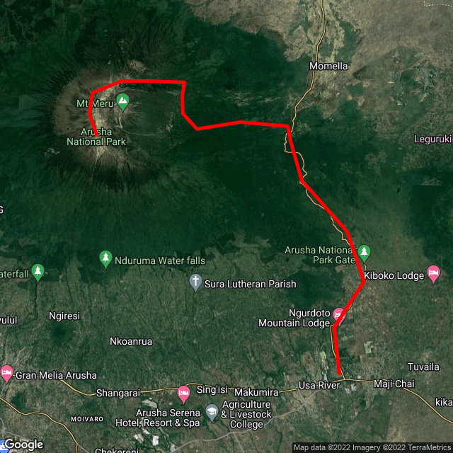 Map of Climb Mount Meru