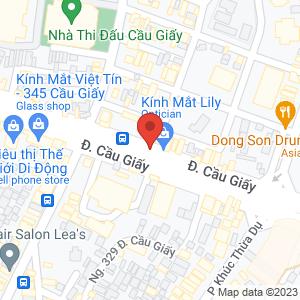 Bản đồ google map The Pizza Company Số 333 Cầu Giấy