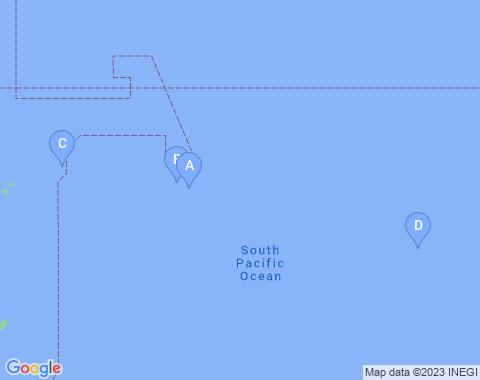 Kaart Frans Polynesie