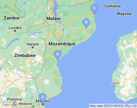 Kaart Mozambique