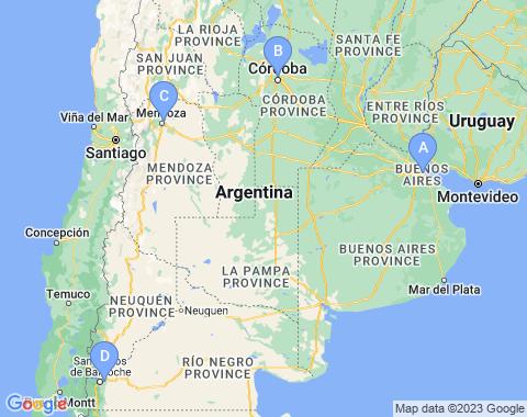 Kaart Argentinie