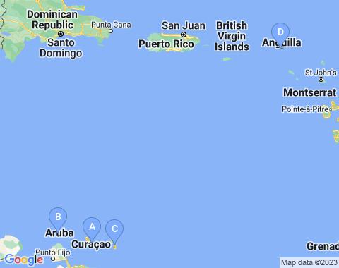 Kaart Antillen