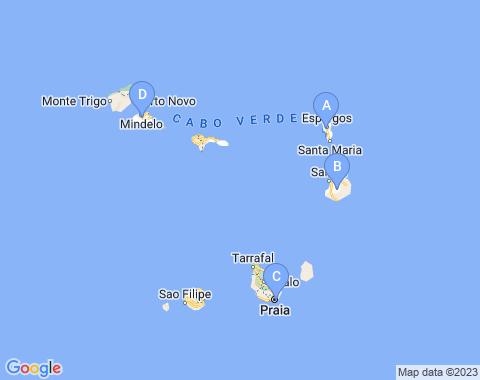 Kaart Kaapverdie