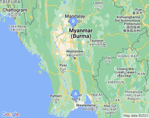 Kaart Myanmar