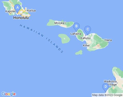 Kaart Hawaii