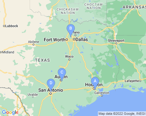 Kaart Texas