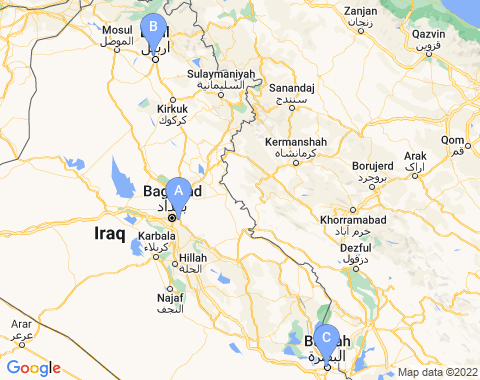 Kaart Irak