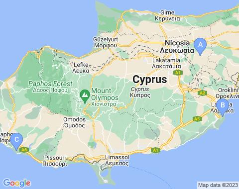 Kaart Cyprus