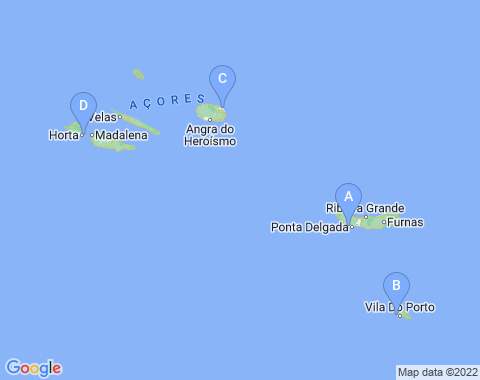 Kaart de Azoren