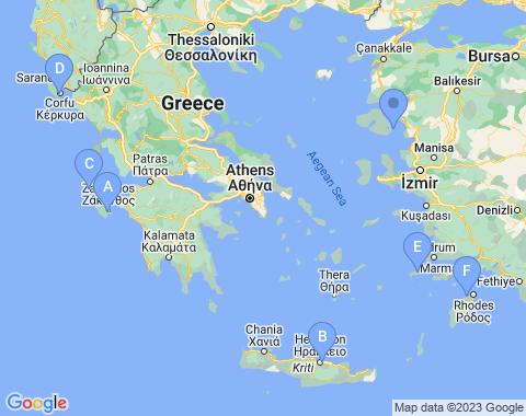 Kaart de Griekse eilanden