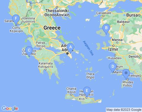 Kaart Griekenland