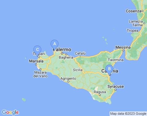 Kaart Sicilie