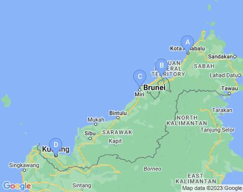 Kaart Borneo
