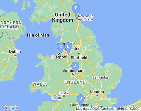 Kaart Engeland