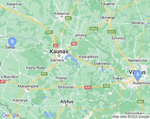 Kaart Litouwen